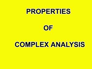 properties of complex numbers