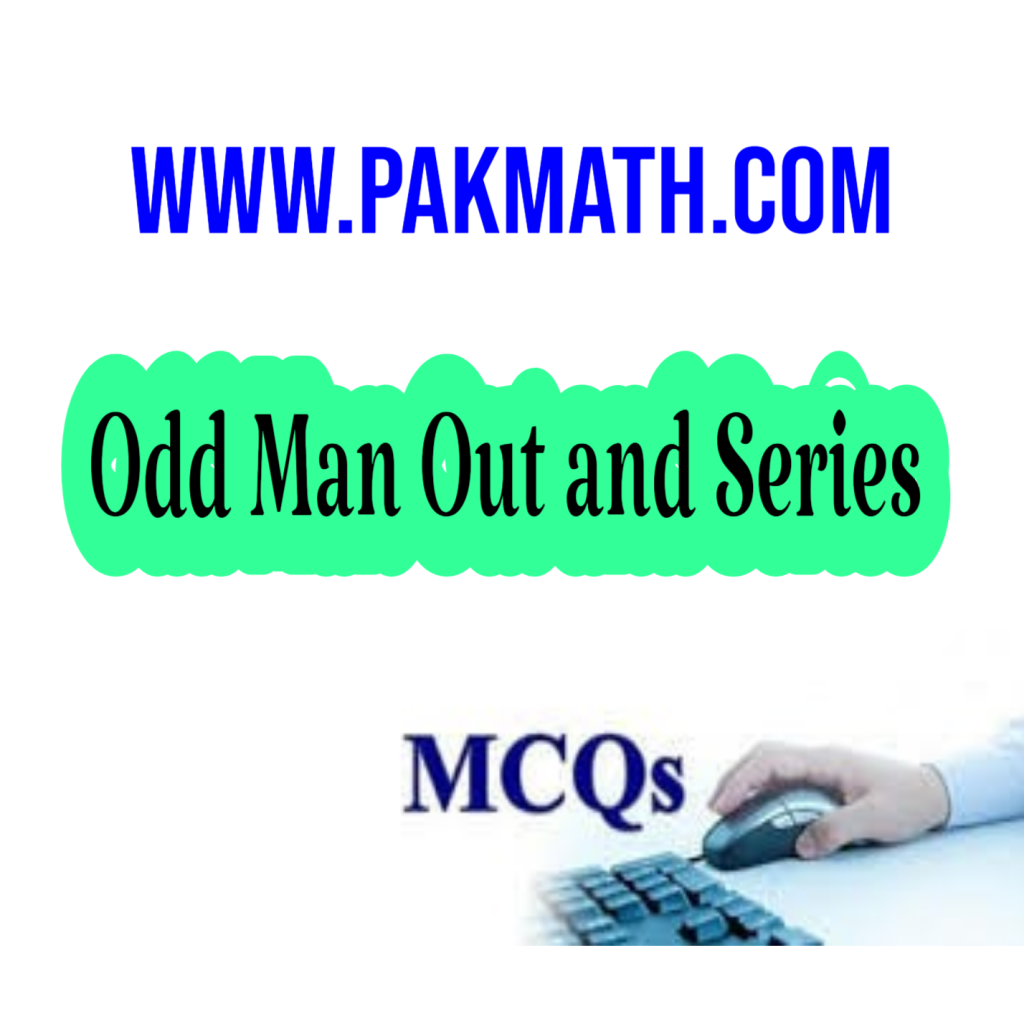 Odd man out and series/General math/pakmath