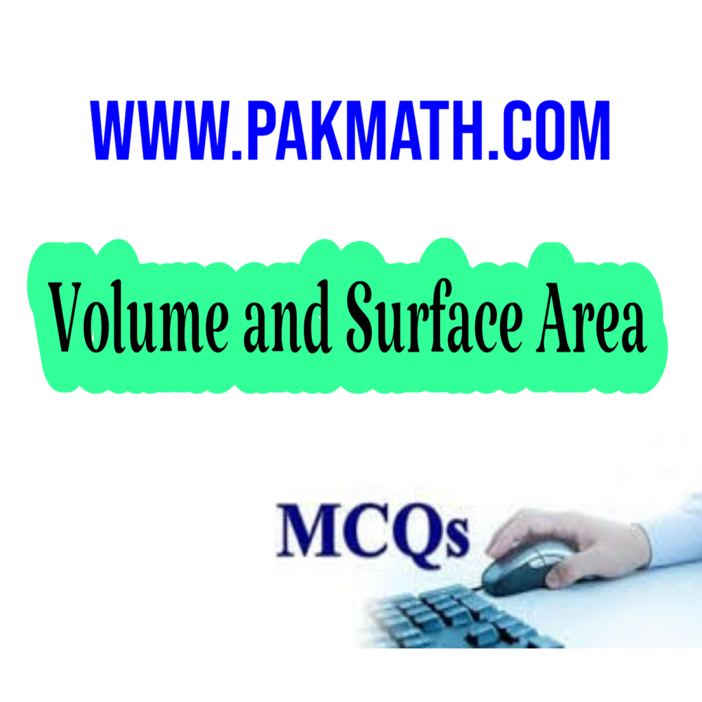 Volume and surface are mcqs general math