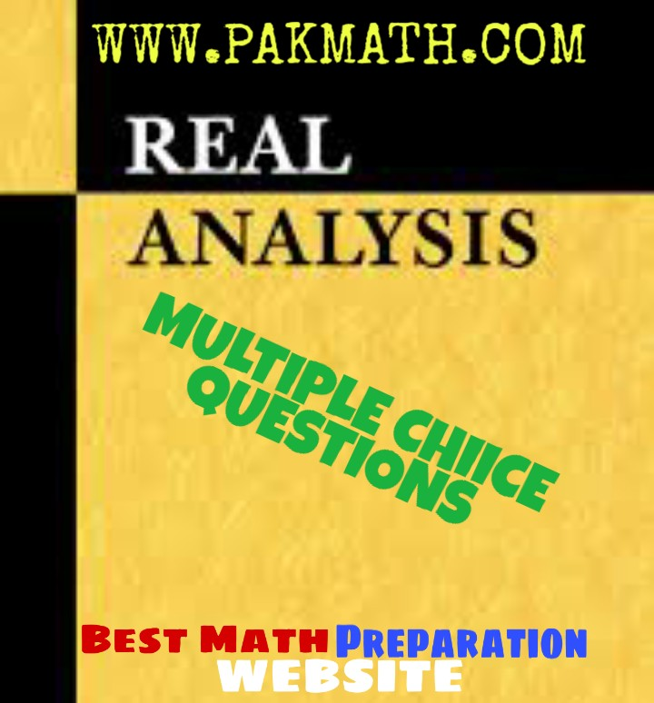 introduction to real analysis mcqs